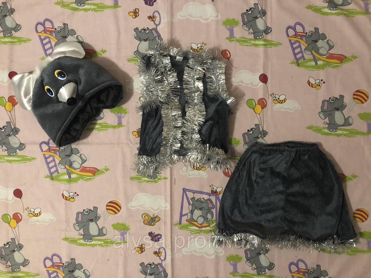 """Детский карнавальный костюм """"Мышка """" (велюр)"""