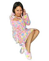 Махровый домашний банный халат. Халатик женский махровый. Размеры 42-54. Оптом и розница.