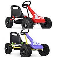Детская педальная машина веломобиль карт M 3613-3