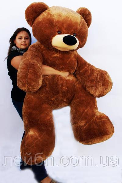 Большой плюшевый коричневый медведь Бублик 2м
