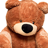 Большой плюшевый коричневый медведь Бублик 2м, фото 3