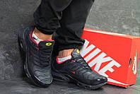 e36664b9 Кроссовки найк зимние темно-синие красные кожаные (реплика) Nike Air Max Tn  Dark