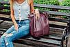 Женская кожаная сумка 04 виноградный флотар 01040104, фото 5