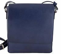 73d51a710f3b Кожаная мужская сумка-планшет из натуральной кожи Италия (Bottega Carele)  синий