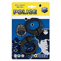 Набір поліцейського Gonher Наручники і значок