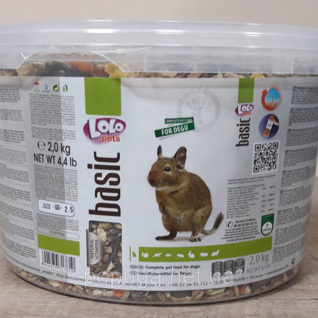 LoLo Pets basic for Degu Полнорационный корм для дегу, 2 кг
