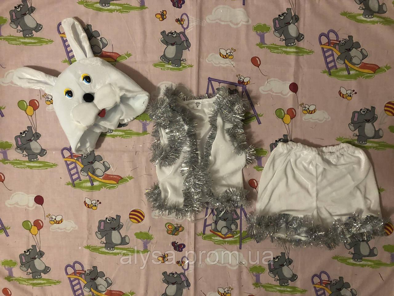 """Дитячий карнавальний костюм """"Зайчик"""" (велюр)"""