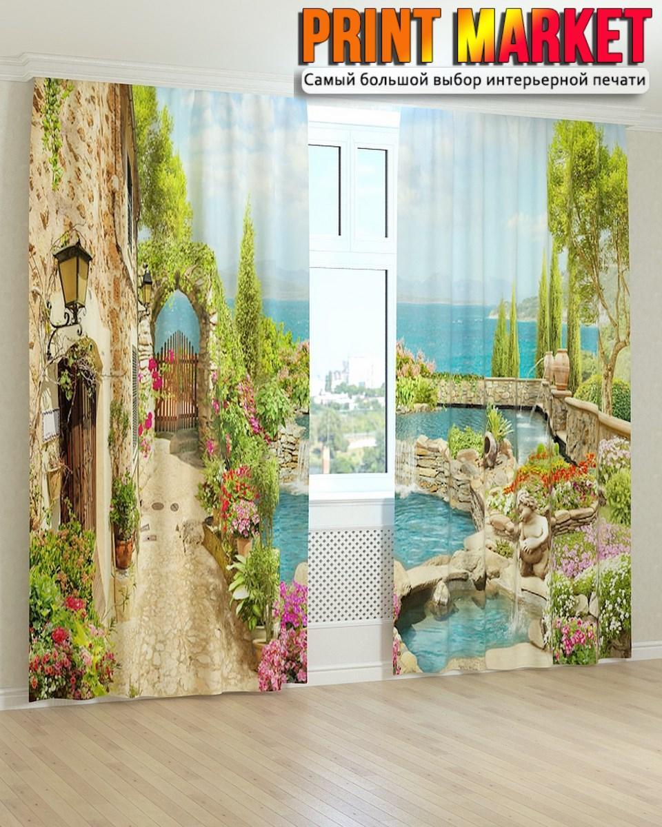 Фотошторы фрески бассейн