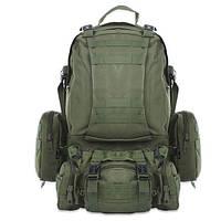 Рюкзак тактический 50 60 литров с навесными подсумками (3 штуки)