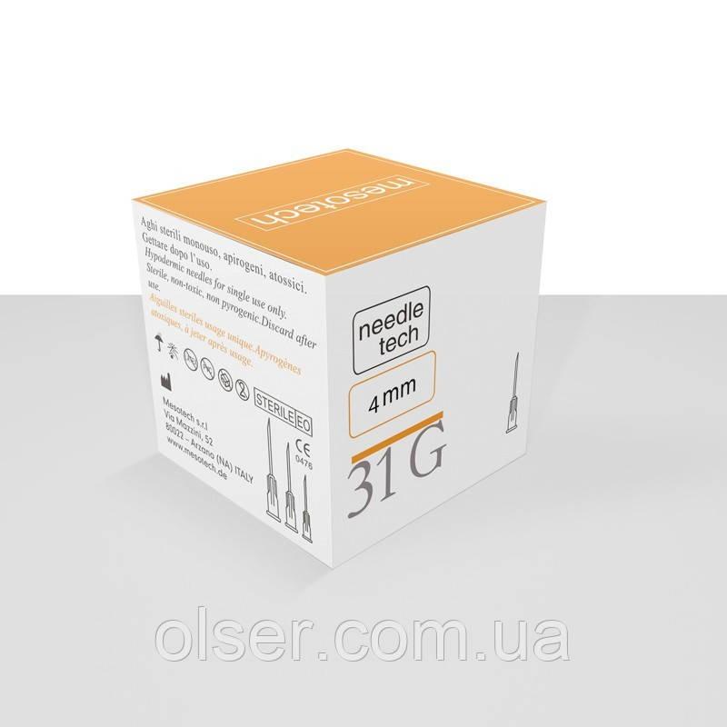 Иглы для мезотерапии Needletech 31G 4 mm