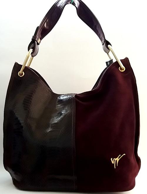 a56706cafa13 Очаровательная женская сумка из натуральной кожи и замша , цена 1 090 грн.,  купить в Полтаве — Prom.ua (ID#751046300)