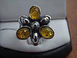 Серебряное кольцо с янтарем, фото 9