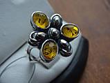 Серебряное кольцо с янтарем, фото 3