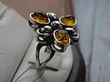 Серебряное кольцо с янтарем, фото 5