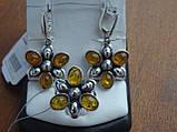 Серебряное кольцо с янтарем, фото 6