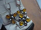 Серебряное кольцо с янтарем, фото 7