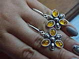 Серебряное кольцо с янтарем, фото 10