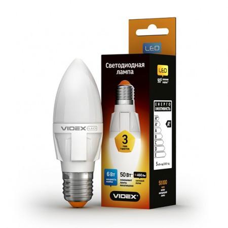 LED лампа VIDEX C37 6W E27 4100K 220V