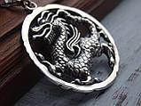 """Серебряная подвеска """"Дракон"""", фото 2"""