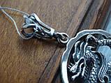 """Серебряная подвеска """"Дракон"""", фото 5"""
