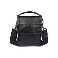f02d4ffc329a Мужская кожаная сумка Tofionno 6206P-1 черная со съемной ручкой (23х18х4 см)