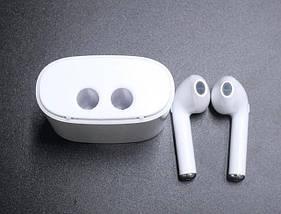 Беспроводные наушники I7s TWS Bluetooth c кейсом Белые, фото 3