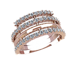 Комплект из золотых серёжек и кольца, фото 2