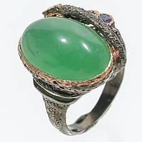 Хризопраз иолит кольцо с натуральным хризопразом иолитом 18.5-19 размер Таиланд, фото 1