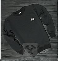 Мужской спортивный свитшот, кофта на флисе The North Face, черный, Реплика