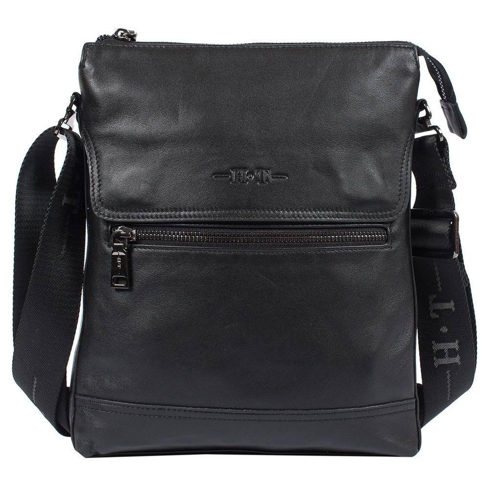 c32202c41d34 Мужская кожаная сумка HT 7921-4 черная (28х23х5 см): 1 850 грн ...