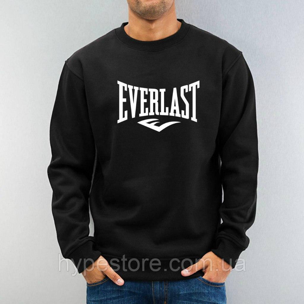 Мужской спортивный свитшот, кофта на флисе Everlast, Реплика