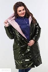 Двухстороннее женское стеганное пальто размеры:42-46, 48-52,54-58