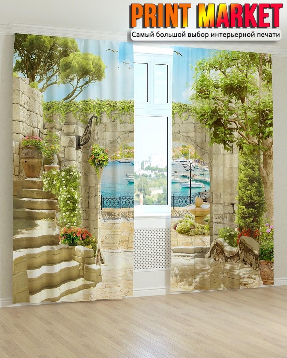 Фотошторы фрески лестница над аркой