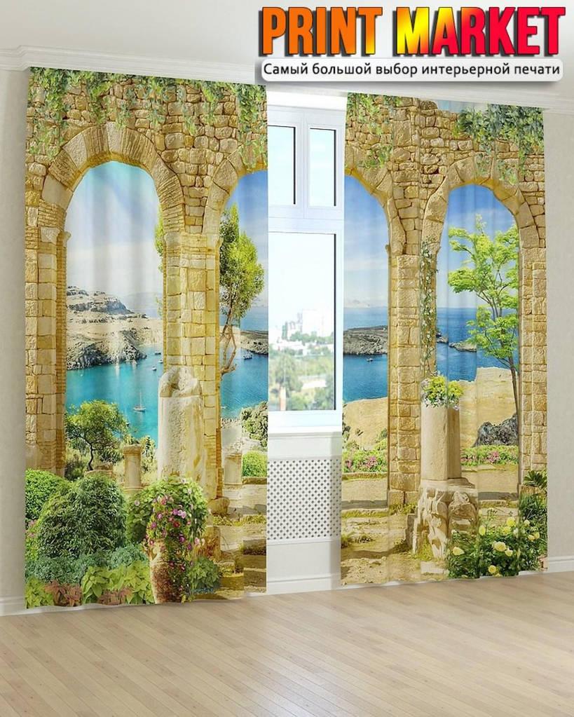 Фотошторы фрески тройная арка