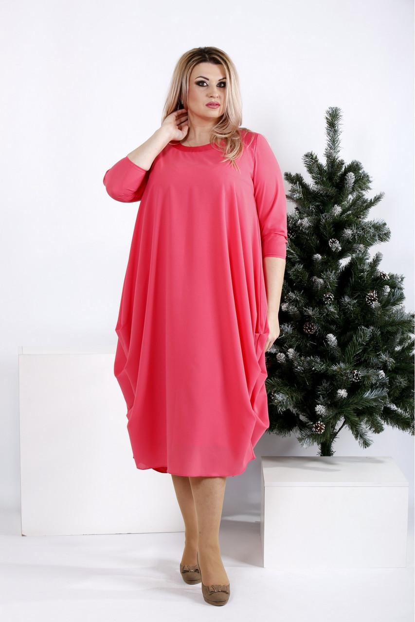 Новинка! женское демисезонное платье больших размеров 42-74