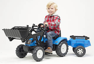 Трактор педальный LANDINI с прицепом и ковшом Falk