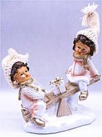 "Статуэтка керамика DY0913 ""Дети на качелях""  16х13см"