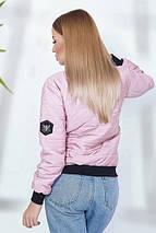 """Стеганая женская куртка-бомбер """"GUССI"""" с карманами (4 цвета), фото 3"""