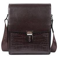 b130ebcddd6a Мужская кожаная сумка с кодовым замком Wolf Family 57006-4 темно-коричневая  (27
