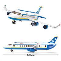 Конструктор пассажирский самолет Sluban, 463 детали, фото 1