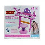 Детское пианино-синтезатор на ножках со стульчиком, фото 2