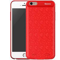 "Чехол-аккумулятор Baseus Plaid для Apple iPhone 7 / 8 (4.7"") (2500mAh) Красный"
