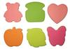 """Бумага для заметок Y01 липкая блок фигурный 5цветов неон 76х76мм """"Домики"""" 100листов 6видов уп12"""