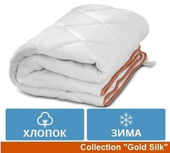 Одеяло двуспальное Хлопковое Зима Евро 200x220 Gold Silk MirSon 095, фото 2