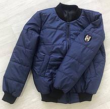 """Стеганая женская куртка-бомбер """"ГУЧЧИ"""" с карманами (большие размеры), фото 3"""