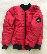 """Стеганая женская куртка-бомбер """"ГУЧЧИ"""" с карманами (большие размеры), фото 2"""