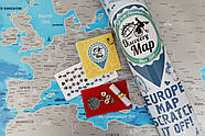 Стирающаяся скретч карта Европы Discovery Map Europe (в тубусе) английский язык, фото 2