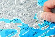 Стирающаяся скретч карта Европы Discovery Map Europe (в тубусе) английский язык, фото 3