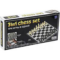 Игра Шахматы Нарды Шашки (3 в 1) №9518 24,5*12,5 см
