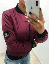 """Стеганая женская куртка-бомбер """"ГУЧЧИ"""" с карманами (5 цветов), фото 3"""